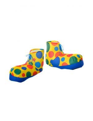 Oversized Polka Dot Rainbow Clown Shoes Costume Accessory