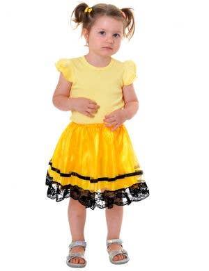 Emma Yellow and Black Toddler Girls Tutu Skirt
