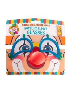 Novelty Clown Glasses and Nose Costume Accessory