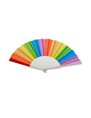 Handheld Rainbow Coloured Fan Costume Accessory