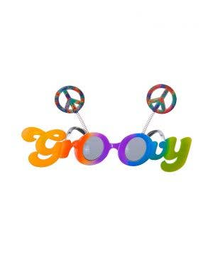 Rainbow Giant Groovy 70's Hippie Costume Glasses