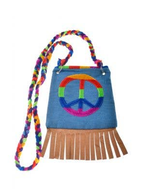 Peace Sign 1970's Shoulder Bag Costume Accessory