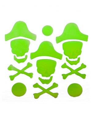 Glow in the Dark Pirate Gel Clings Halloween Decoration
