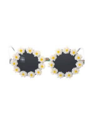 Daisy Rimmed Novelty 70's Hippie Costume Glasses