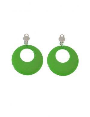 Clip On Women's Green Earrings Costume Accessory