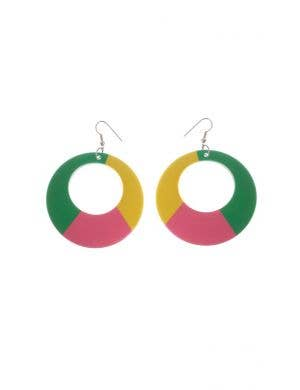 1980's Retro Multi-colour Costume Accessory Earrings