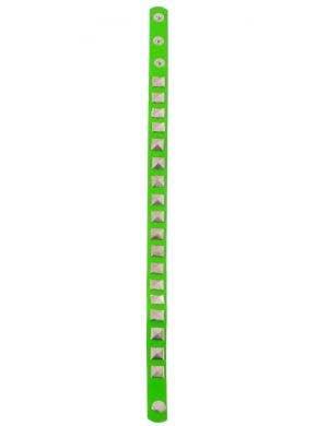 Studded 80s Neon Green Punk Choker Accessory