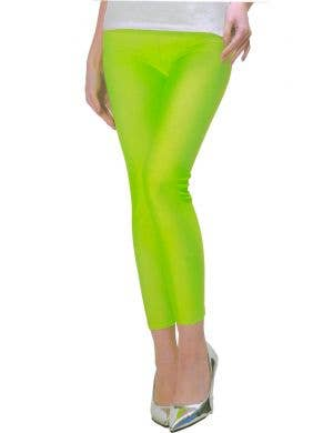 1980's Party Neon Green Women's Costume Leggings