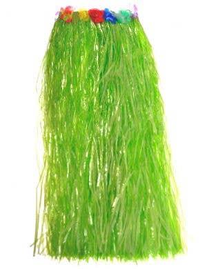 Long Green Hawaiian Hula Skirt Costume Accessory