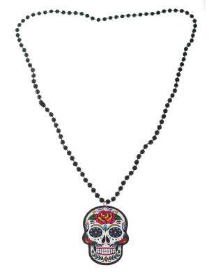 Day of the Dead Sugar Skull Necklace Costume Jewellery