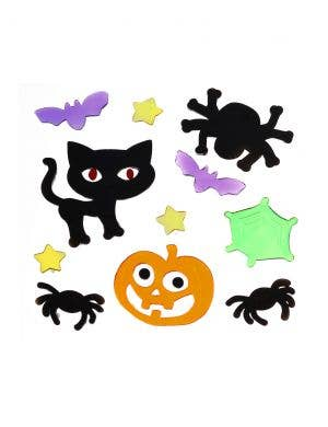 Assorted Colourful Gel Window Clings Halloween Decoration