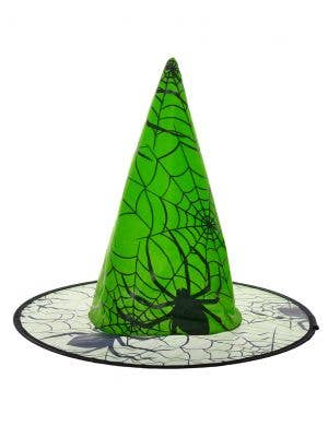 Green Spider Witch Hat Halloween Costume Accessory