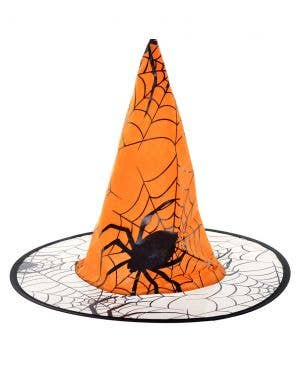 Orange Spider Witch Hat Halloween Costume Accessory