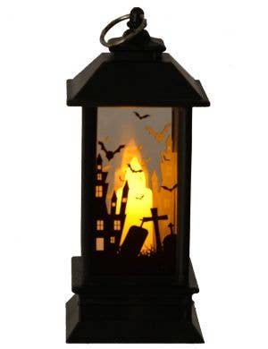 Mini 12cm Light Up Cemetery and Witch Lantern Halloween Prop