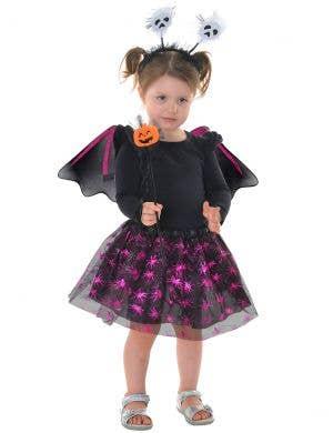 Sparkly Pink and Black Kids Halloween Tutu Set