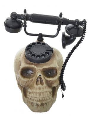 Deluxe Vintage Light Up and Talking Skull Telephone Halloween Prop