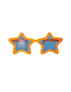 Oversized Novelty Orange Star Sunglasses Costume Accessory
