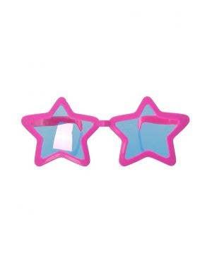 Jumbo Novelty Pink Star Sunglasses Costume Accessory