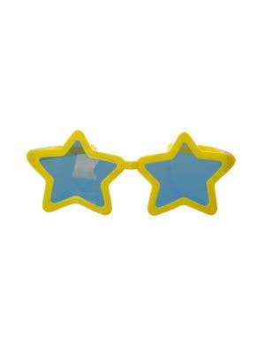 Jumbo Novelty Yellow Star Sunglasses Costume Accessory