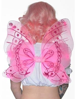 Sparkly Lolly Pink Glitter Butterfly Wings