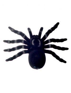 Large Black Flocked Spider Halloween Decoration