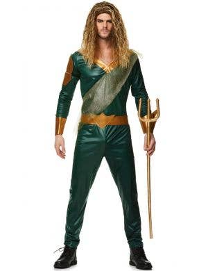 Sea King Men's Aqua Man Fancy Dress Costume