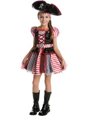 High Seas Pirate Girls Fancy Dress Costume