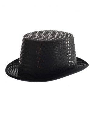 Sequined Adult's Black Top Hat Costume Accessory