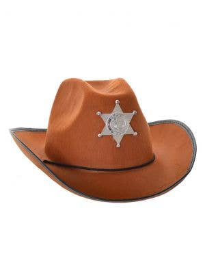 Western Sheriff Adult's Brown Cowboy Costume Hat
