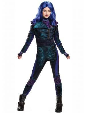 Descendants 3 - Deluxe Mal Girls Fancy Dress Costume