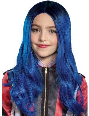 Descendants 3 - Deluxe Girls Evie Blue Costume Wig