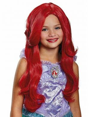 The Little Mermaid Girls Long Red Ariel Costume Wig