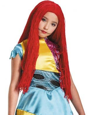 Nightmare Before Christmas Girls Red Sally Costume Wig