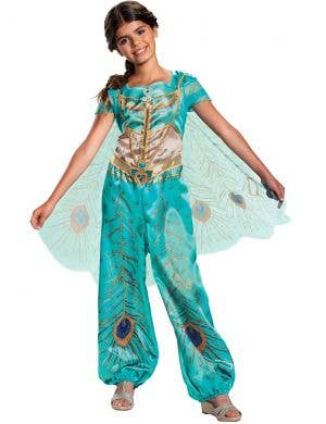 Deluxe Princess Jasmine Girls Dress Up Costume