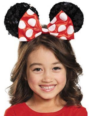Minnie Mouse Girls Sequinned Ears on Headband