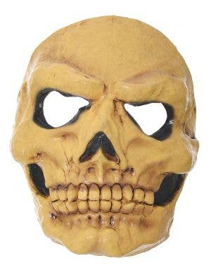Yellowed Scary Skull Latex Halloween Mask