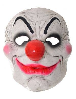 Evil Smiling Clown Halloween Rubber Mask