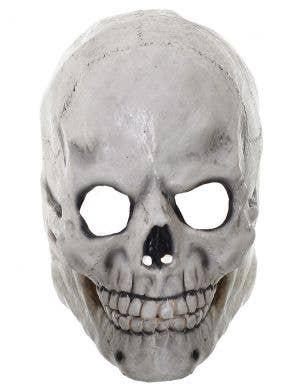 Human Skull Deluxe Full Head Rubber Halloween Mask