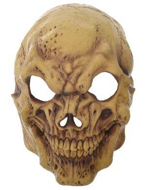 Aged Skeleton Deluxe Latex Full Head Halloween Mask