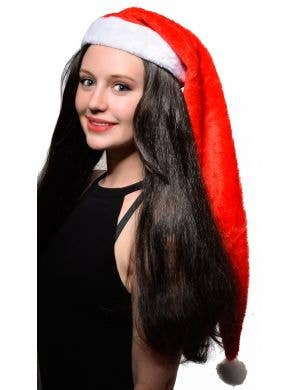 Extra Long Plush Christmas Santa Claus Costume Hat