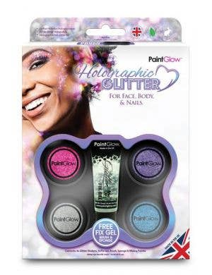 Holographic 4 Colour Loose Glitter Makeup Kit Image 1