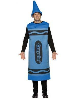 Crayola Adults Novelty Blue Crayon Costume