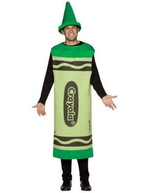 Men's Green Crayola Novelty Fancy Dress Costume
