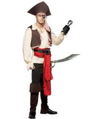 Men's Jolly Rodger Novelty Pirate Costume Front