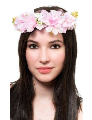Pretty Pink Flower Garland Headband