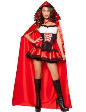 Sexy Women's Little Red Rider Satin Costume