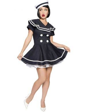 Pin-Up Captain 1940's Women's Fancy Dress Costume
