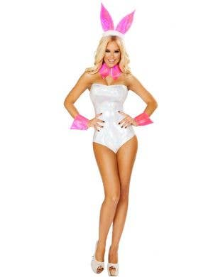 Cute Bunny White and Pink Women's Sexy Costume