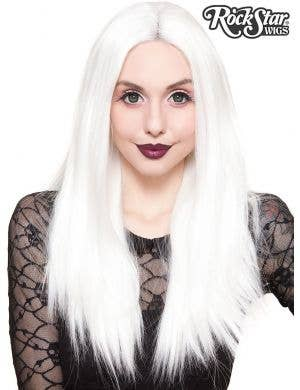 "Lace Front 24"" Long White Women's Fashion Wig"