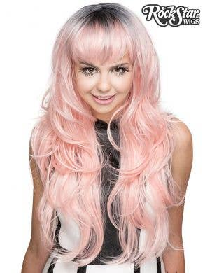 Deluxe Women's Uptown Girl Central Pink West Pastel Wig